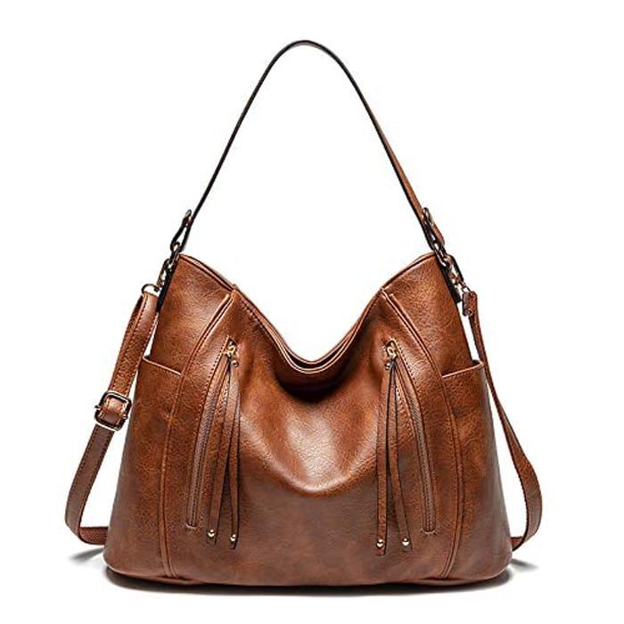 Large Multi Pocket Hobo Bag