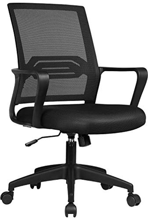 COMHOMA Office Ergonomic Desk Chair with Arms Back Support - Only £30.00!