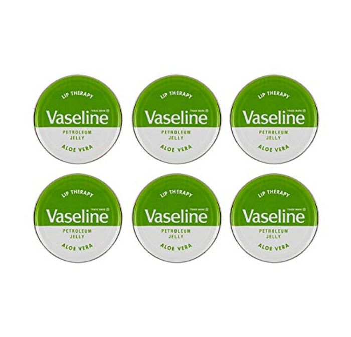 6 VASELINE LIP BALM TINS - [Aloe Vera (Green Tin),6]