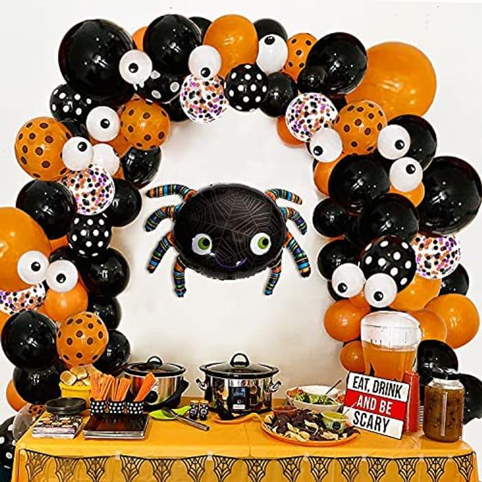121pcs Halloween Balloons Arch Garland Kit