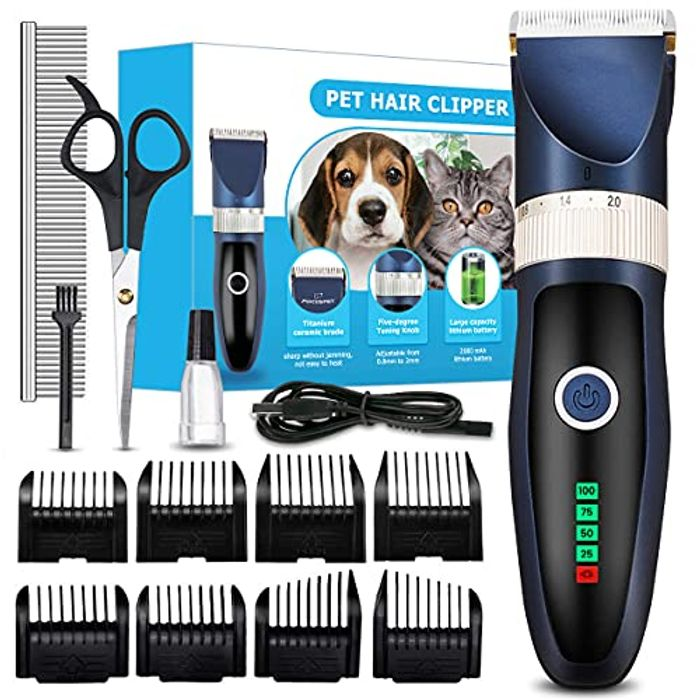 Focuspet Low Noise Rechargeable Dog Grooming Clippers