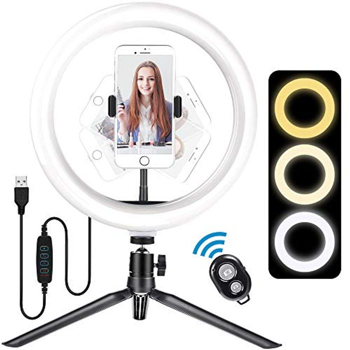 Meromore 10 LED Ring Light with Tripod Stand