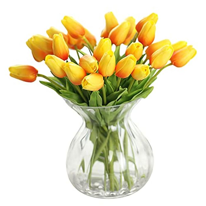 Artificial Flowers,Fake Flowers Bouquet Silk Tulip Real Touch - Only £5.19!