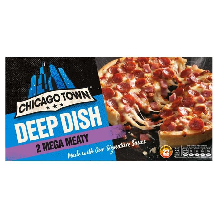 Chicago Town 2 Deep Dish Mega Meaty Pizzas