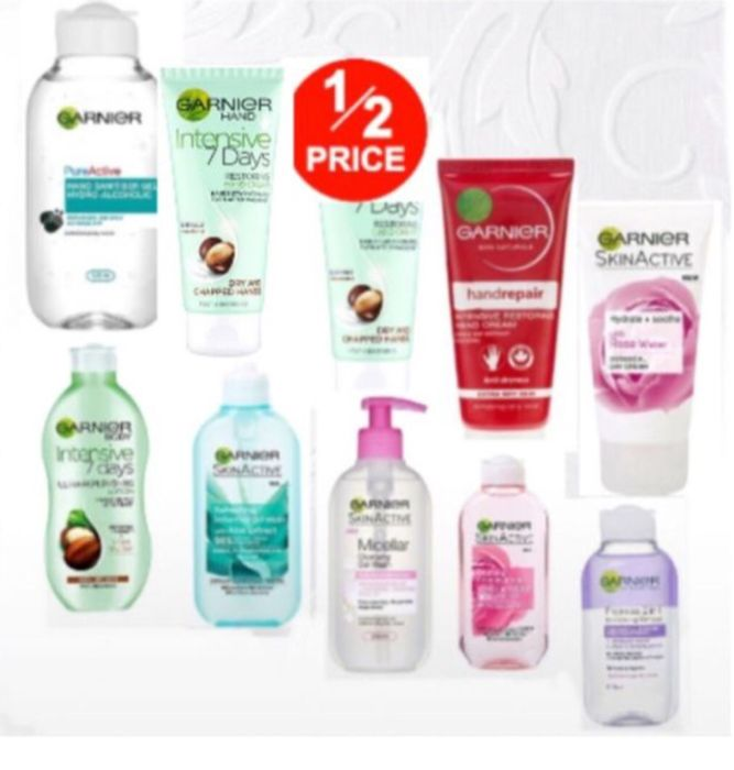 1/2 Price on Selected Garnier Products/Pure Active Hand Sanitiser Gel,From 62p