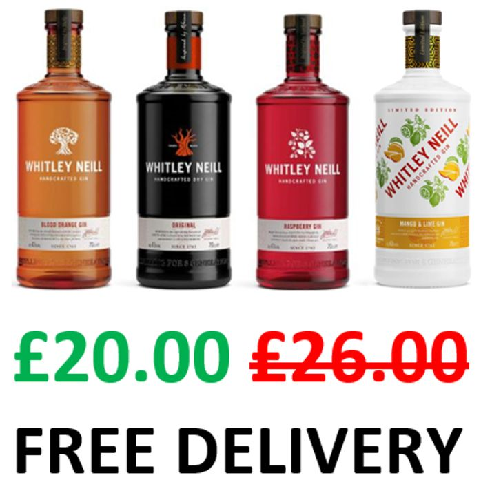 SAVE £6 - Whitley Neill Gins 70cl - £20 at AMAZON + FREE DELIVERY