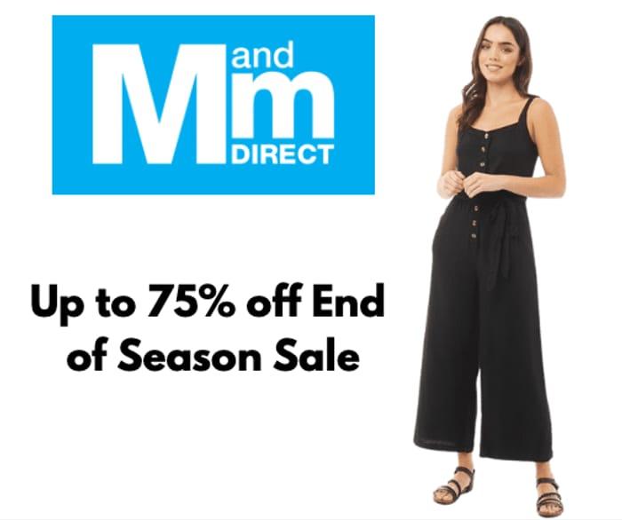 HUGE Savings! Up to 75% off MandM Summer Clearance Sale