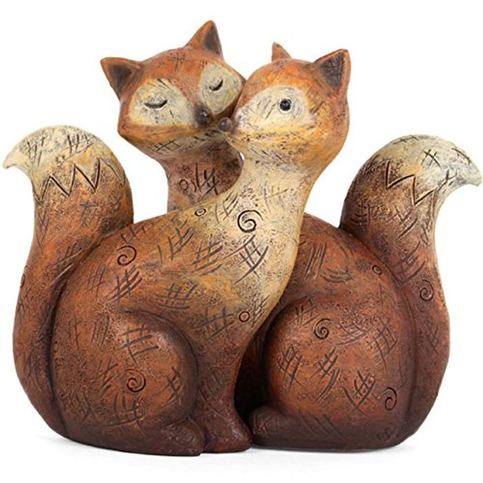 Something Different Fox Family Ornament, Brown