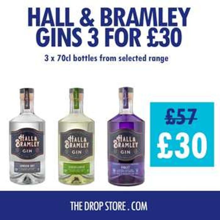 *SAVE £27* 3 x Hall & Bramley Gins - £30 Delivered