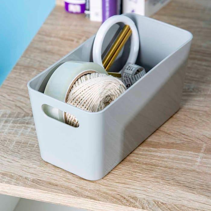 Wham Grey Storage Studio Basket 20x10x10cm