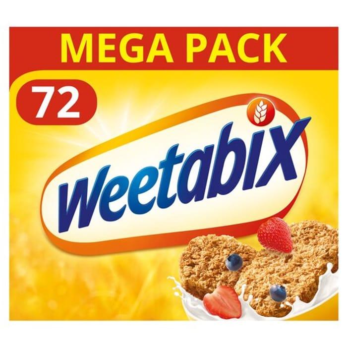Weetabix 72Pk for £5.25 at Tesco