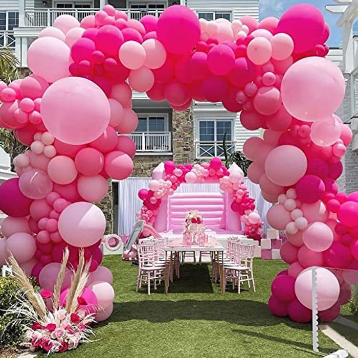 Retro Pink Balloon Arch Kit - 139pcs - Only £6.99!