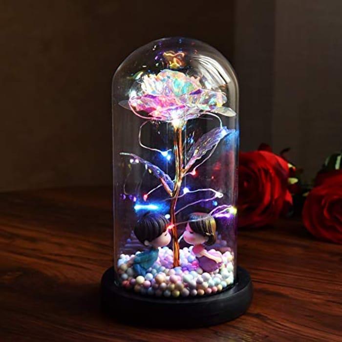 Glass Galaxy Rose Light