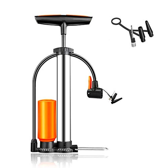 DEAL STACK - High Pressure Bicycle Floor Pump with Booster Pump + 5% Coupon