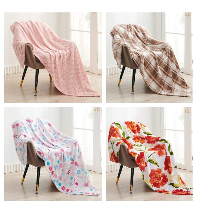 Fleece Blanket Super Soft Fluffy Bed Blanket 150*200cm - 4 Designs