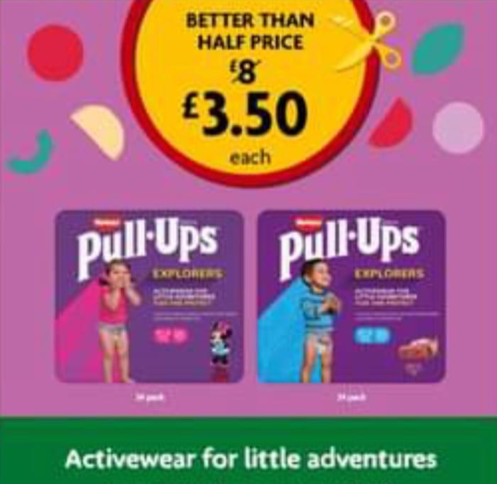 CHEAP! Huggies Pull Ups Explorers Disney Editions - £3.50 at Morrisons