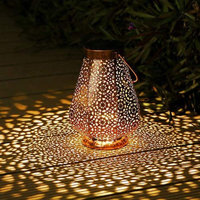 Solar Lanterns Outdoor, Othran Moroccan Lantern - Only £11.49!