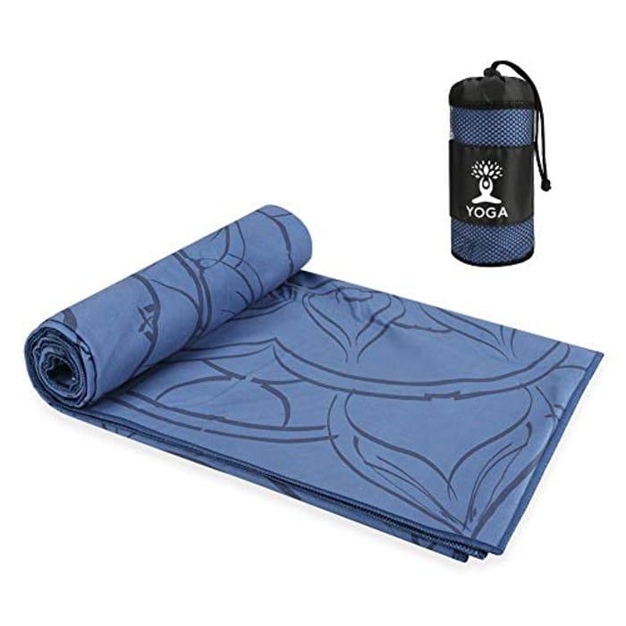 Maxjaa Yoga Towel Mat, Non Slip Hot Yoga Mat - Only £4.20!