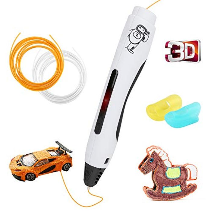 3D Pen, Maxjaa 3D Printing Pen with 2-Color PLA - Only £9.30!