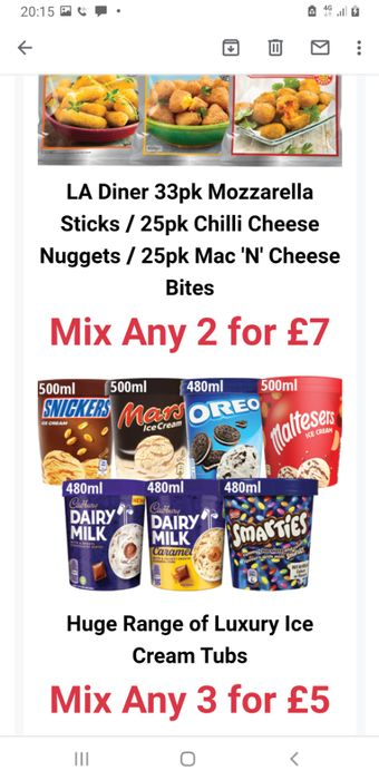 Luxury Ice Cream Tubs. 3 for £5