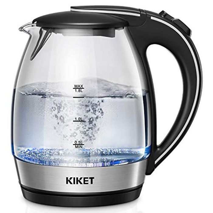 Glass Kettle with LED Blue Light, 1.7L Electric Kettle - Only £13.99!