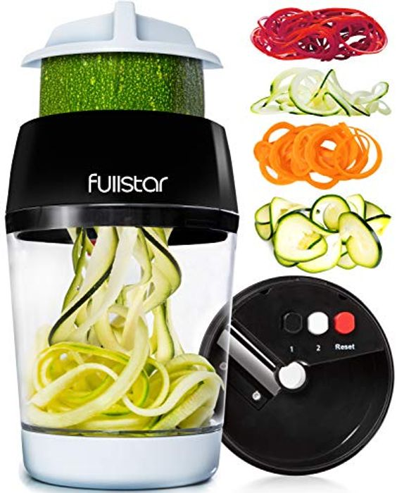4 in 1 Vegetable Spiralizer Hand Held with Container with £5 off Coupon