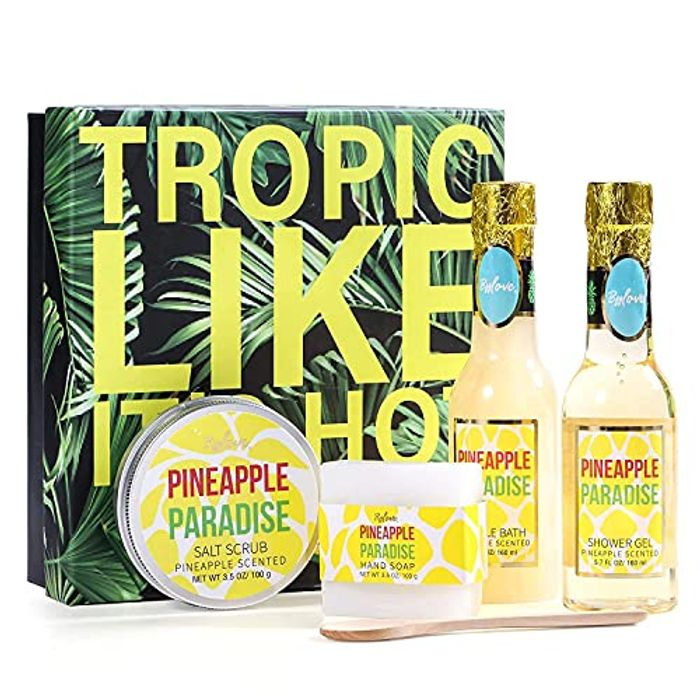 BFFLOVE Hawaiian Pineapple Scent Bath Gift Set for Women, 5 Pc - Only £5.60!