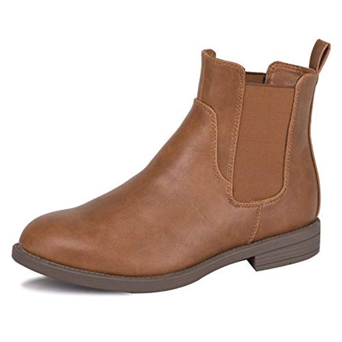 LIGHTNING DEAL - Ladies Comfortable Stylish Classic Chelsea Ankle Boots