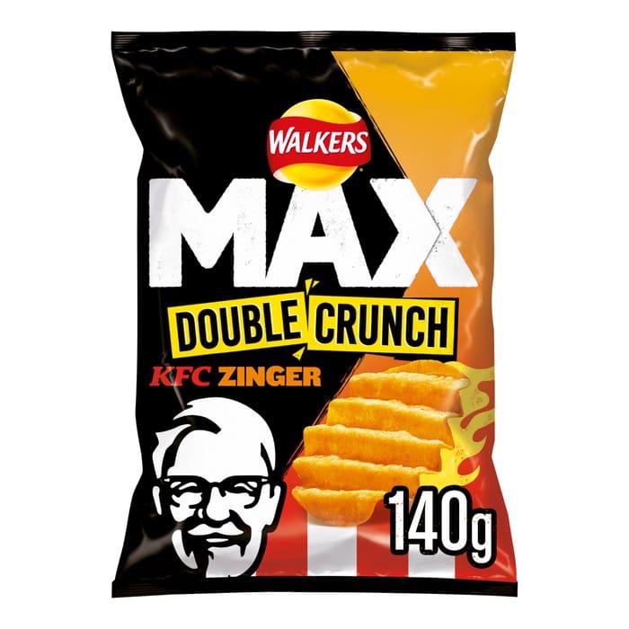 Walkers Max Double Crunch Kfc Zinger Crisps 140G