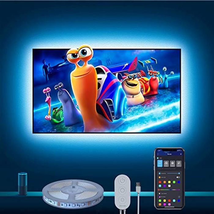 LED Strip Light for Television Compatible Work with Alexa Google Home