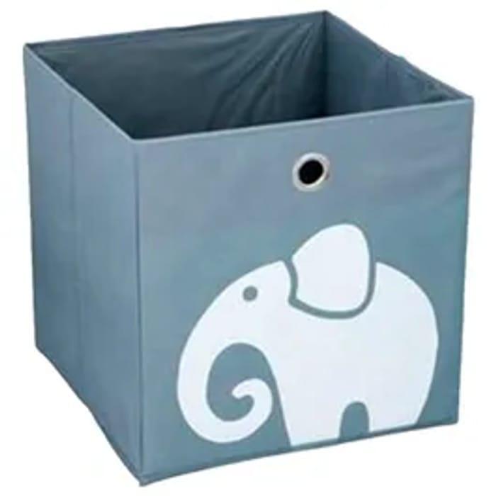 Children's Fabric Storage Box in Grey