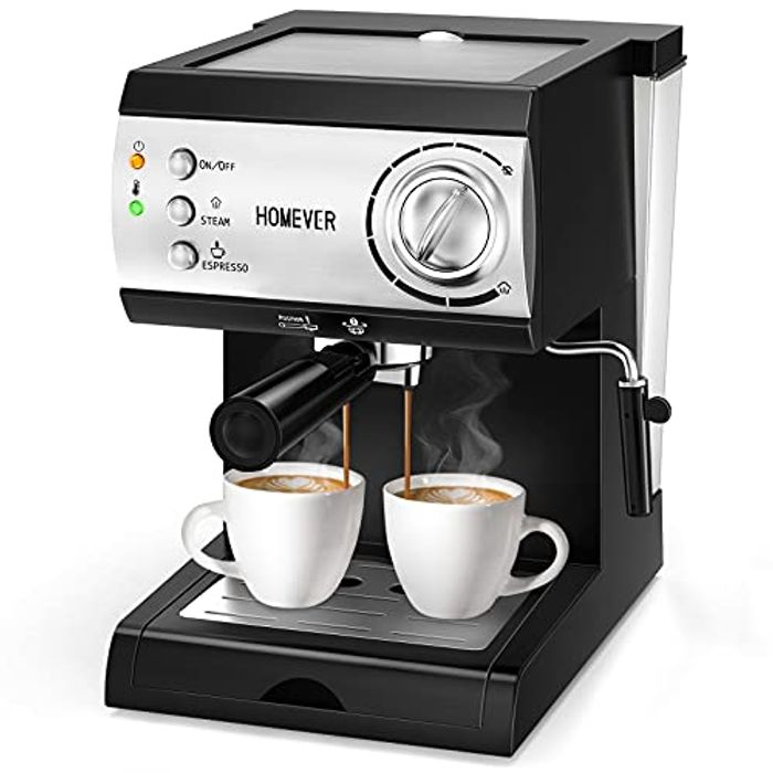 DEAL STACK - Traditional Pump Espresso Coffee Machine + £20 Coupon
