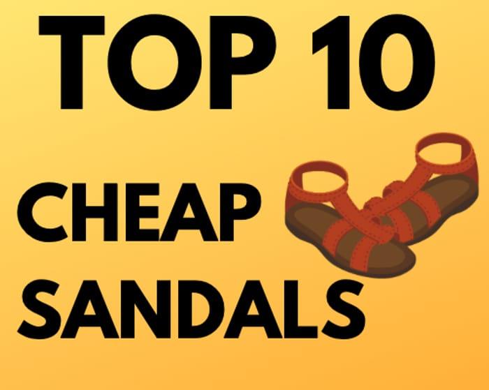 10 Cheap Women's Sandals From Under £6