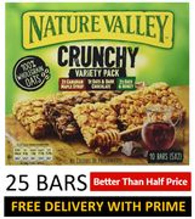 25 Nature Valley Crunchy VARIETY PACK Cereal Bars