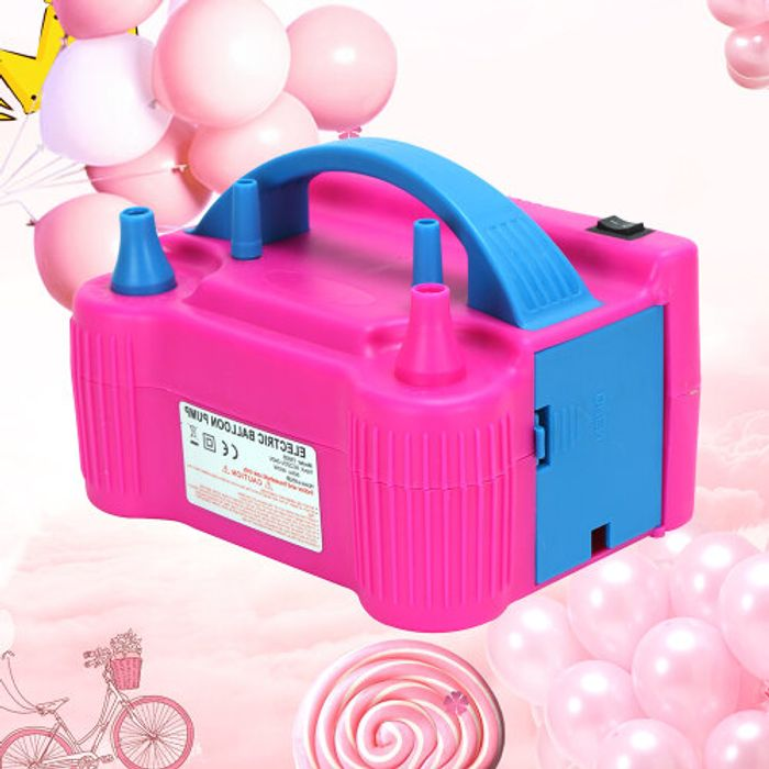2 Nozzle Portable Electric Balloon Pump Inflator & Free Delivery.