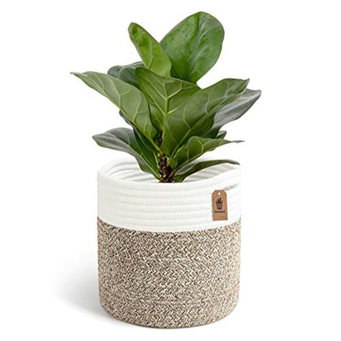 Goodpick Woven Cotton Rope Plant Basket - Only £4.99!