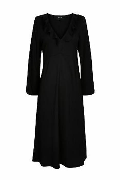 Wallis Womens Black Frill Detail Midi Dress