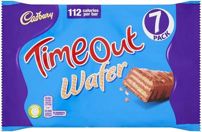 Cheap Cadbury Timeout Wafer Bars, Multipack of 7 X 21.2g - Only £1!