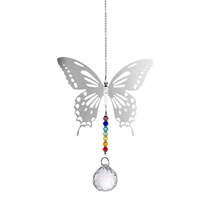 Longsheng Maple Leaf Butterfly Chandelier Crystal Ball Pendant - Only £4.49!