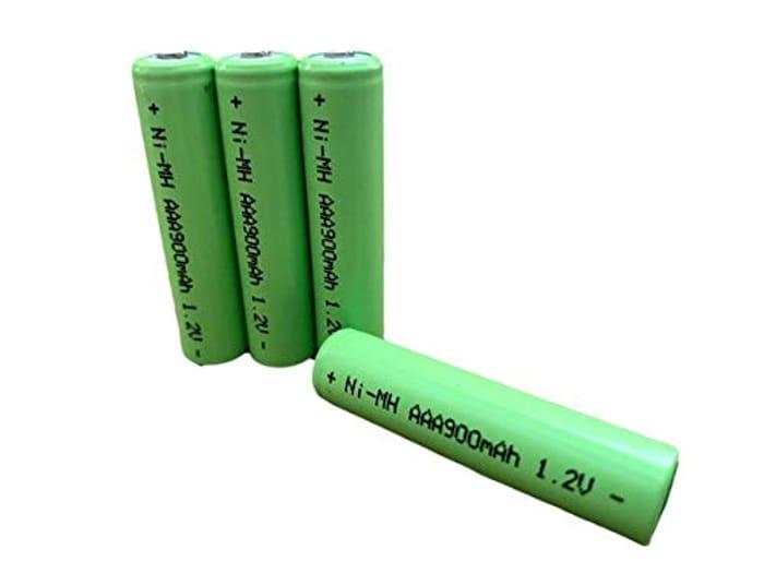 4pk Dunamis 1.2v AAA 900mAh NiMH Rechargeable Batteries - HIGH CAPACITY