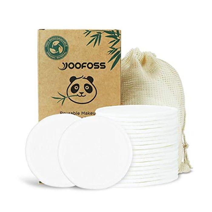 20pcs Reusable Bamboo Makeup Remover Pads
