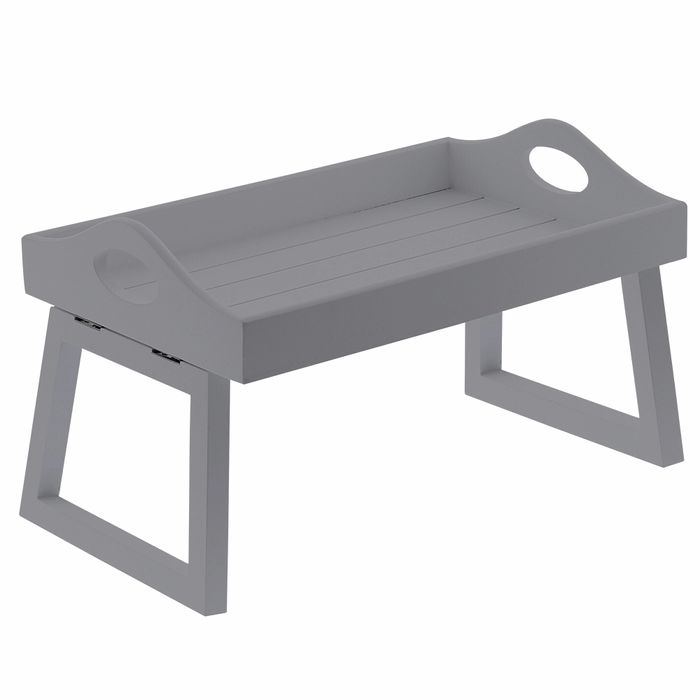 Home Collections Wooden Sofa Tray: Grey