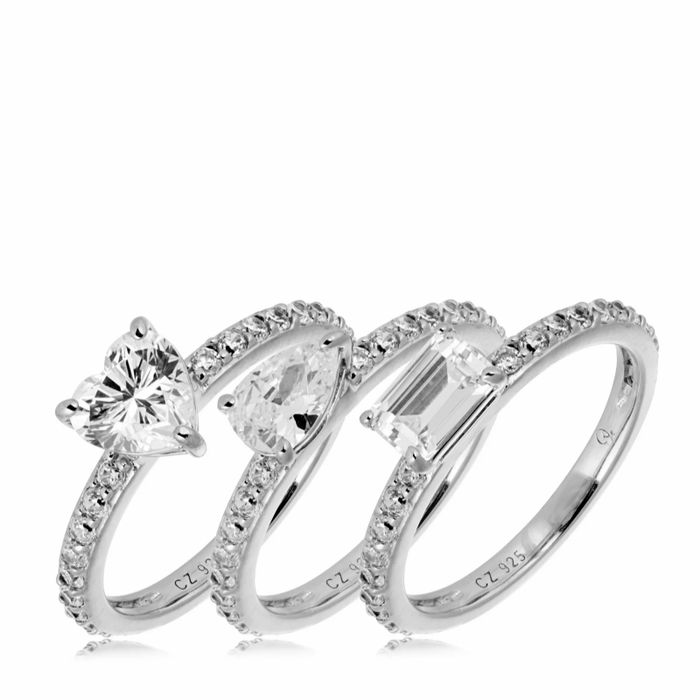 Dannii Diamonique St Tropez Ring Set Sterling Silver