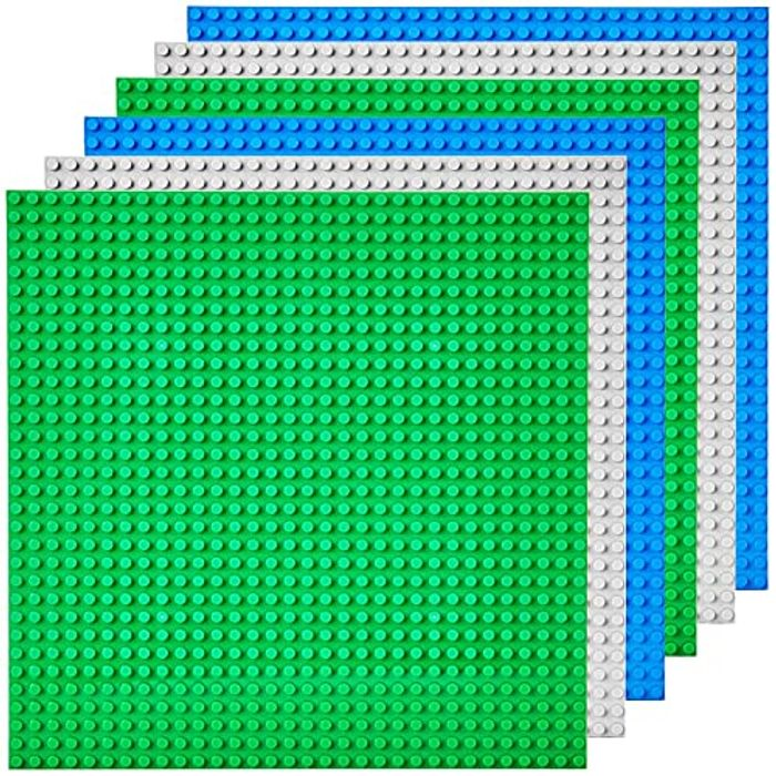 6pk Classic Base Plates 10x10 Inch Building Board Large - Only £4.79!