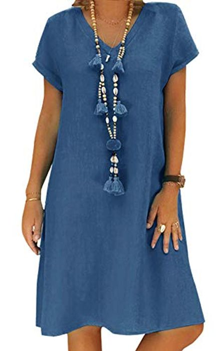 Women's Dress Summer Casual Midi Dress - Available in Multiple Colours