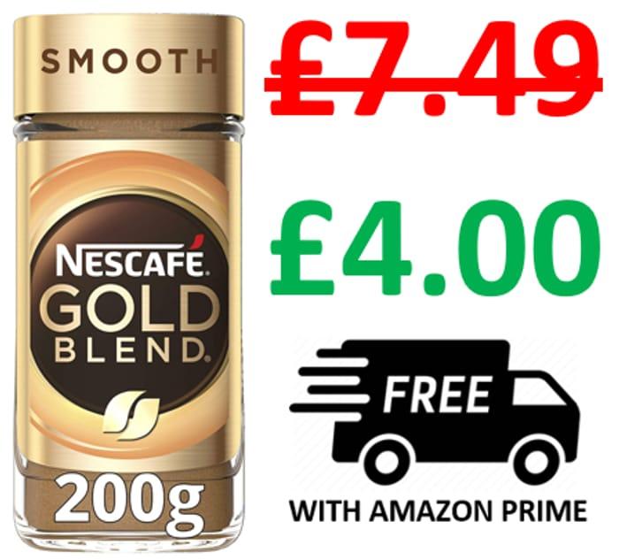 Nescafe Gold Crema SMOOTH Instant Coffee Jar, 200g