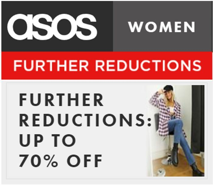 CHEAP! ASOS WOMEN'S OUTLET - Further Reductions - up to 70% off (Even 80% OFF)