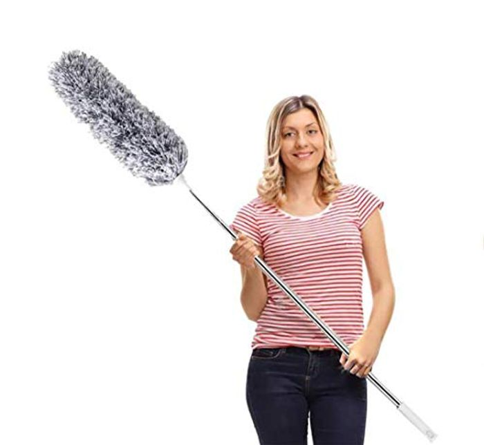 Feather Duster,Extendable Duster Microfiber Long Extension Pole