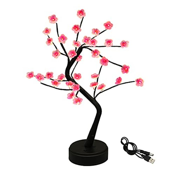 ITICdecor 36 LED Cherry Blossom Table Lamp - USB/Battery Powered