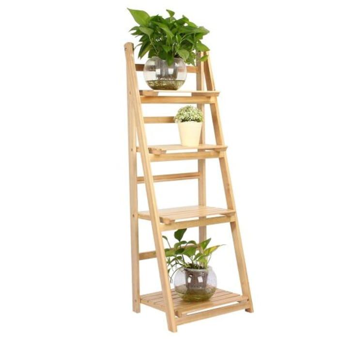 Tier Ladder Shelf Plant Flower Storage Rack Display